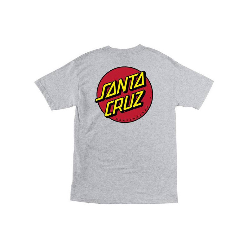 Santa Cruz Classic Dot Tee T-Shirt Dark Heather