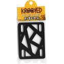 KROOKED SKATEBOARD RISERS BLACK (Set of 2)