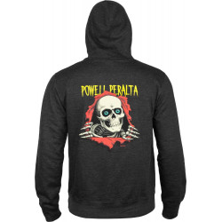 Powell Peralta Ripper Pullover Hooded Sweatshirt Gris fonce