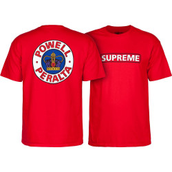 Powell Peralta Supreme T-Shirt Rouge