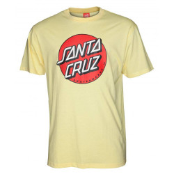 Santa Cruz Classic Dot Tee T-Shirt Lemon