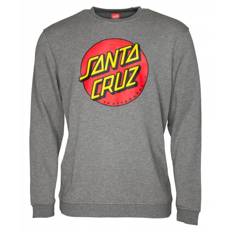 Santa Cruz Crew Classic Dot Dark Heather