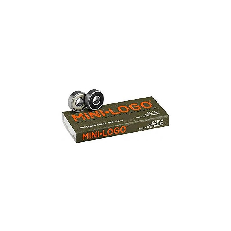 Mini-Logo Skateboards Bearings (Pack of 8), Silver