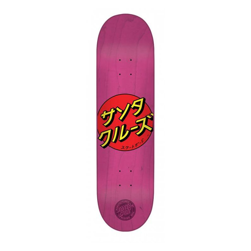 Santa Cruz 8.0 x 31.6 Japan Dot Pink Skateboard Deck