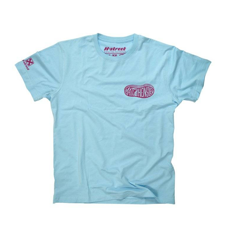 MATT HENSLEY SHOE LOGO TEE LIGHT BLUE