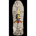 Powell Peralta Skull and Sword GeeGah Skateboard Deck White - 9.75 x 30