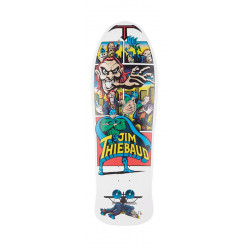 10in x 30.5in Thiebaud Joker White Reissue Santa Cruz Skateboard deck