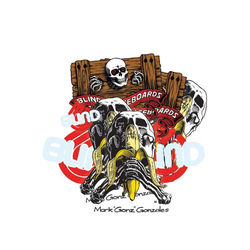 Heritage Skateboard Stickers Blind Skull Series - Paquet de 10