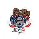 Heritage Skateboard Stickers Blind Jock Skull Johnson 10 Pack