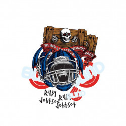 Heritage Skateboard Stickers Blind Jock Skull Johnson - Paquet de 10