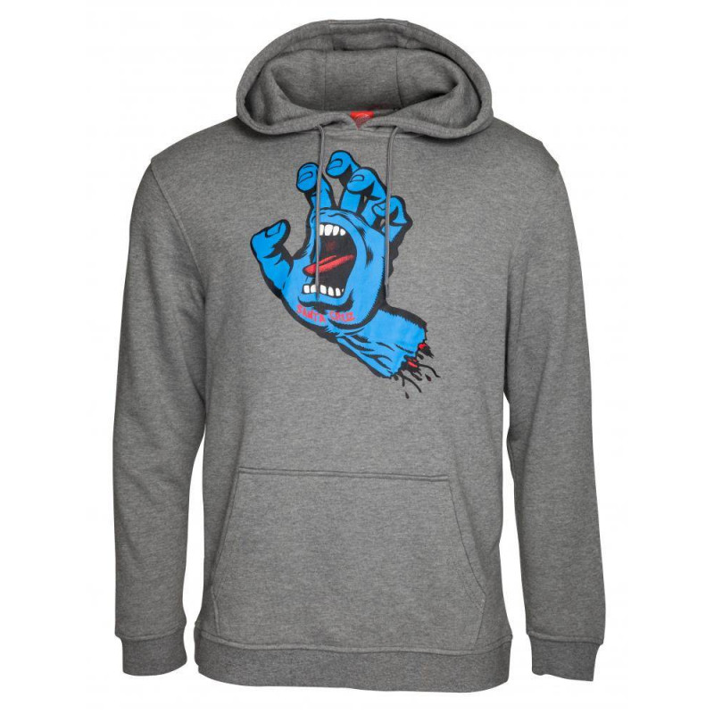 Santa Cruz Screaming Hand Hoody Dark Heather