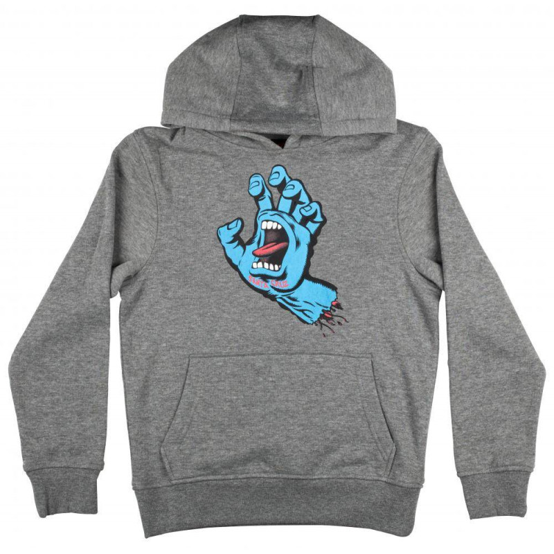 Sweat a capuche Screaming Hand enfant Santa Cruz Gris fonce
