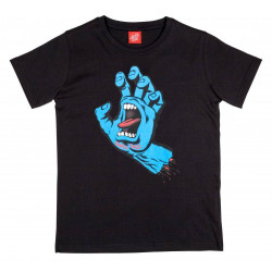 Santa Cruz Screaming Hand Youth T Shirt Noir