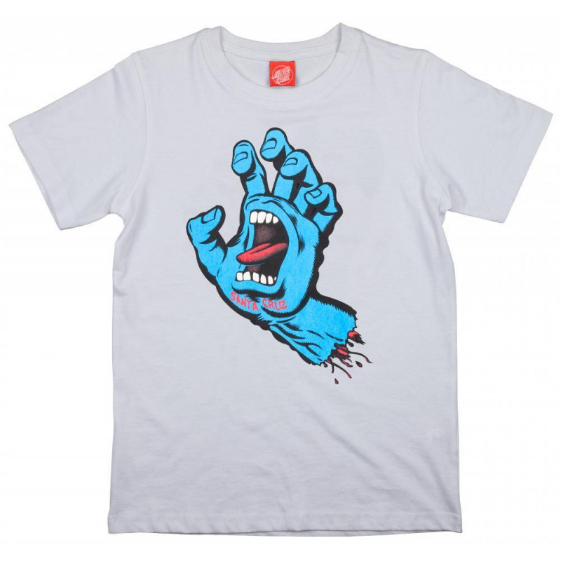 Santa Cruz Screaming Hand Youth T Shirt White