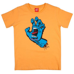 Santa Cruz Screaming Hand Youth T Shirt Orange