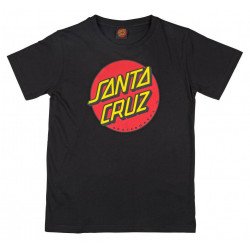 Santa Cruz Classic Dot Youth T Shirt Noir