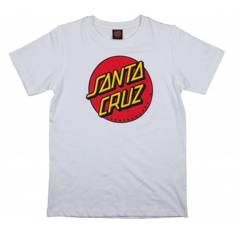 Santa Cruz Youth Classic Dot T-Shirt White