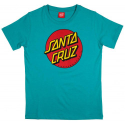 Santa Cruz Youth Classic Dot T-Shirt Baltic Blue