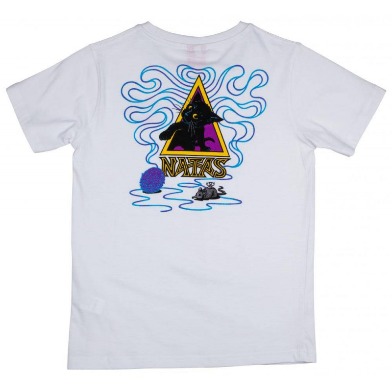 Santa Cruz Youth T Shirt Natas Kitten Blanc