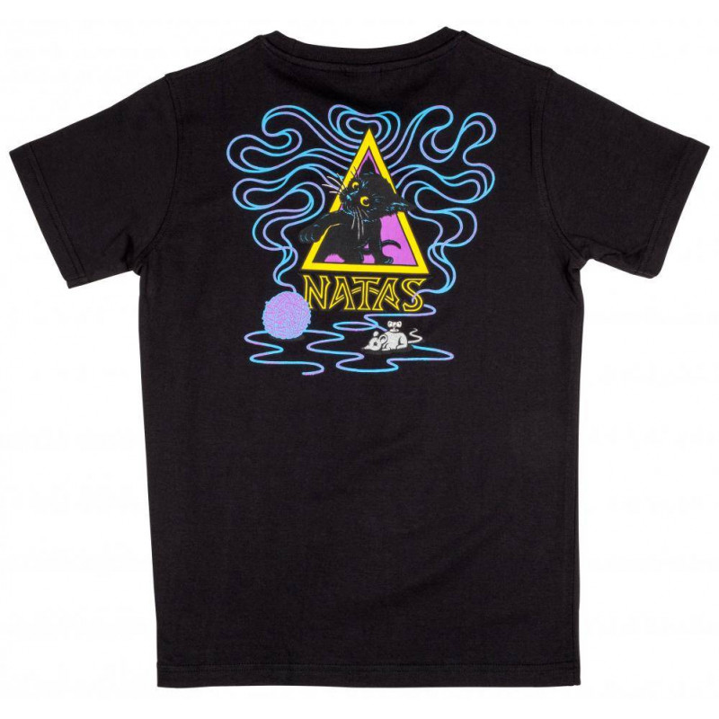 Santa Cruz Youth T Shirt Natas Kitten Noir