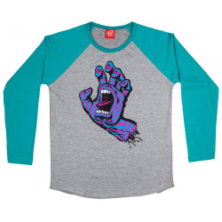 Santa Cruz Youth T Shirt Party Bleu Baltique / Gris (Manches Longues)