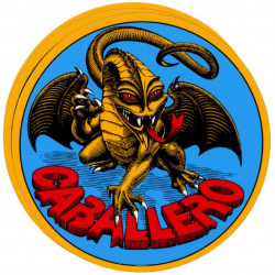 "POWELL PERALTA ""ORIGINAL DRAGON"" CABALLERO SKATEBOARD STICKER 9CM OLD SCHOOL CAB BONES BRIGADE"