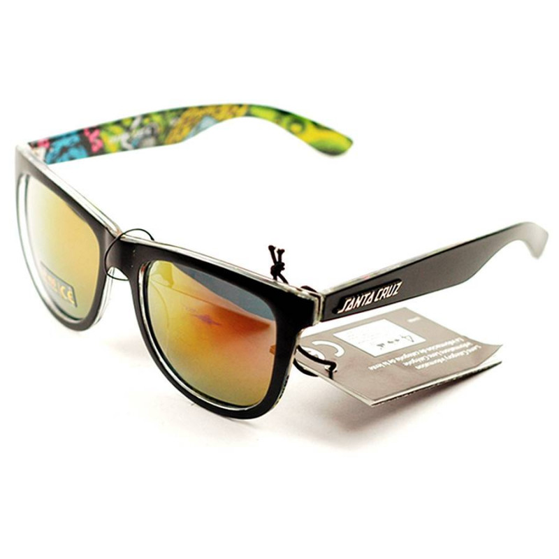 Santa Cruz Slimball Vomit Sunglasses Black