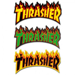 STICKER THRASHER FLAME LOGO 26x12cm