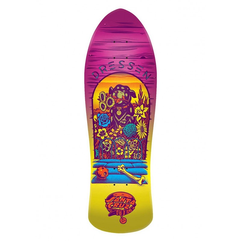 Santa Cruz Dressen Pup Candy Metallic Fade Re-issue Deck - 9.5""