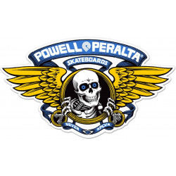 "Sticker Powell Peralta Winged Ripper 12"" Die-Cut Ramp - BLEU"