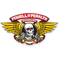 "Sticker Powell Peralta Winged Ripper 12"" Die-Cut Ramp - ROUGE"