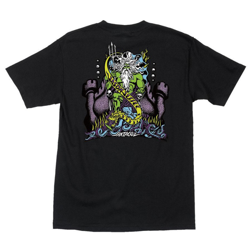 "SANTA CRUZ Jason Jessee ""Neptune"" T-Shirt (Black)"