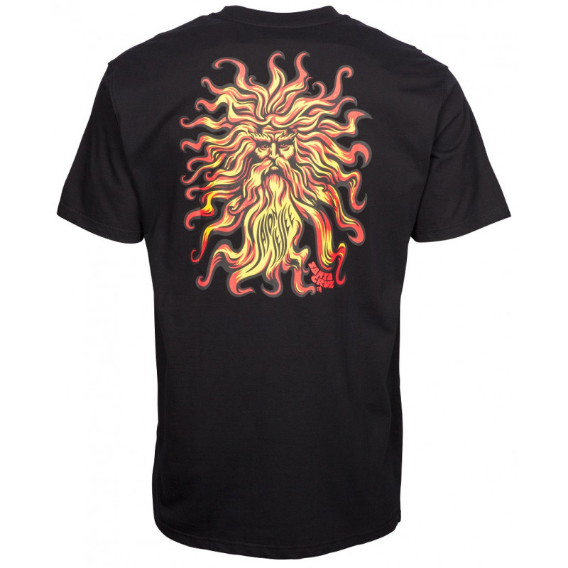 SANTA CRUZ Jason Jessee Sun God T-Shirt Black