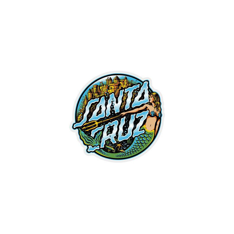 Santa-Cruz Mermaid Dot Sticker 3""