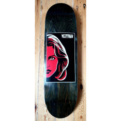 Meltdown face skateboard deck