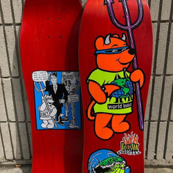"""Rocco III """"World Industries"""" Official 1990 Reissue Red"""