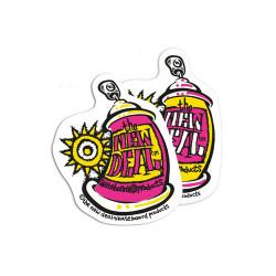 New Deal Spray Can stickers