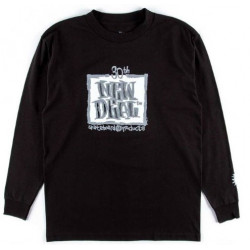 New Deal 30th Anniversary Napkin Logo Long Sleeve T-Shirt - Black