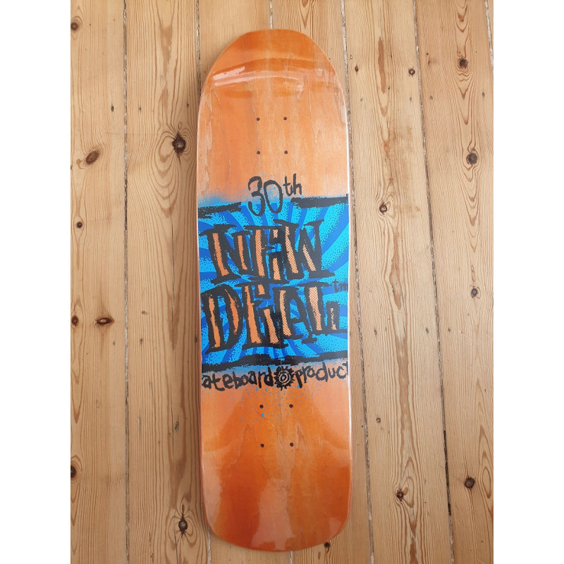 "NEW DEAL - STEVE DOUGLAS NAPKIN FOUNDERS ORANGE 9.125"" SKATEBOARD DECK"
