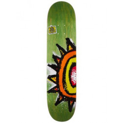 "NEW DEAL - WTF SUN GREEN 8.75"" SKATEBOARD DECK"