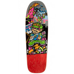 "Plateau de skateboard New Deal Howell Molotov Kid HT - 9.875"" - rouge"