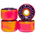 Santa Cruz Skateboards Slime Balls Swirly Pink/Yellow Swirl 78A Skateboard Wheels 65mm