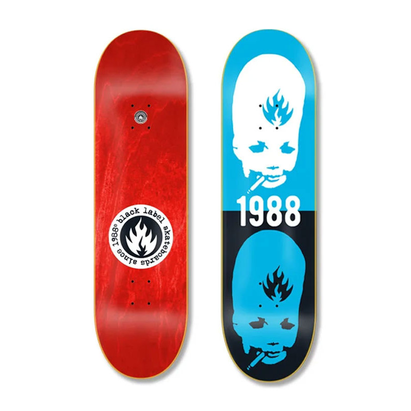 Skateboard deck Black Label – Thumbhead Stacked – 8.75in x 32.78in
