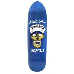 "DOGTOWN SUICIDAL PUNK POINT SKULL BLUE STAIN 8.75"" - OLD SCHOOL SKATEBOARD DECK"