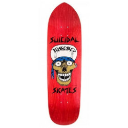 "DOGTOWN SUICIDAL PUNK POINT SKULL RED STAIN 8.75"" - OLD SCHOOL SKATEBOARD DECK"