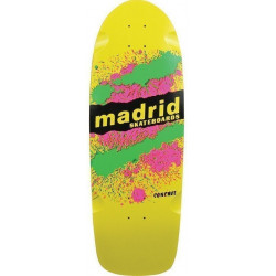 MADRID MARTY EXPLOSION YELLOW - OLD SCHOOL SKATEBOARD DECK
