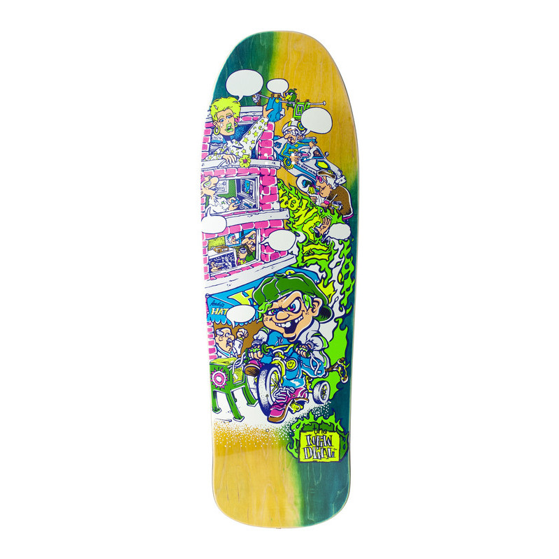 Skateboard deck Andy Howell tricycle kid HT Fluo