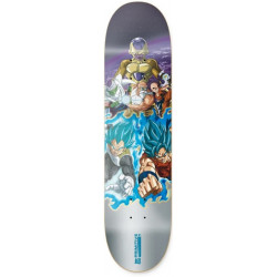 Primitive x DBS Team Resurrection Skateboard Deck Silver 7.0