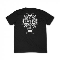 DOGTOWN T-SHIRT CROSS LOGO BLACK