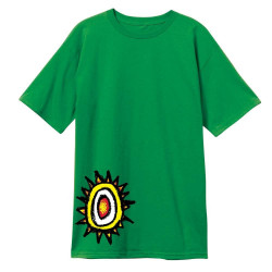 NEW DEAL SKATEBOARDS New Deal Skateboards Sun Logo Skate T-Shirt - Green